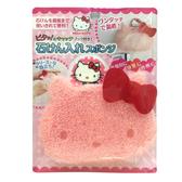 日本製造 凱蒂貓造型香皂洗手包(附魔鬼氈掛勾) SAN-12942