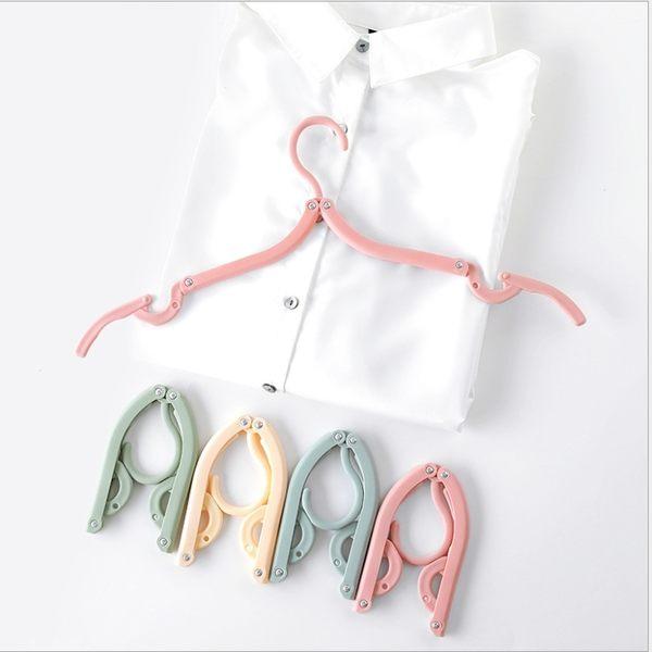King*Shop~2297折疊衣架8個裝成人兒童便攜式衣撐家用無痕防滑衣服衣掛