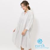 ❖ Hot item ❖  素面/條紋有機混紡寬鬆連身洋裝 - earth music&ecology