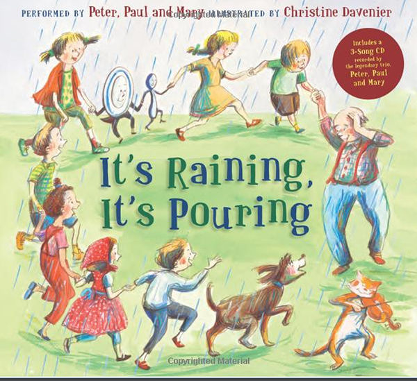 【麥克書店】IT'S RAINING, IT'S POURING  /精裝繪本+CD《主題:想像》