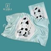枕巾嘉絲麗新兒童枕巾100%桑蠶絲原創卡通印花面料幼兒園絲綢枕巾 快速出貨
