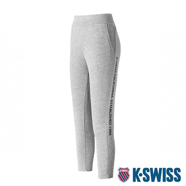 K-SWISS Ks Waist Band Capri Pants棉質九分褲-女-灰