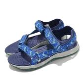 Merrell 涼鞋 Kahuna Web 藍 灰 童鞋 女鞋 戶外鞋 耐磨 舒適【ACS】 MK264948