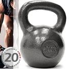 KettleBell實心鑄鐵20公斤壺鈴(44磅)運動20KG壺鈴競技.拉環啞鈴搖擺鈴.舉重量訓練用品.重力設備