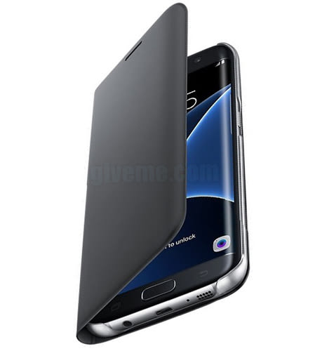 分期 三星 SAMSUNG Galaxy S7 原廠翻頁式皮套 黑 原廠公司貨 全新公 側掀 掀蓋☆☆☆