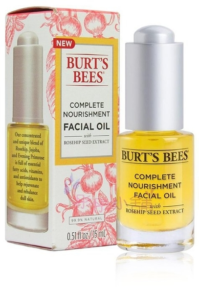 Burt's bees 蜜蜂爺爺 玫瑰果活膚精華油 0.51oz / 15 ml 原裝平行輸入【彤彤小舖】