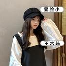 貝雷帽 黑色鴨舌貝雷帽女春夏時尚網紅款潮畫家八角帽子韓版英倫復古百搭