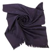 【COACH】經典COACH LOGO 羊毛混桑蠶絲流蘇絲巾圍巾(羅蘭紫)