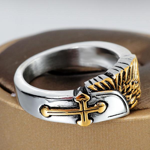 【5折超值價】潮流街頭美式風格十字造型鈦鋼戒指
