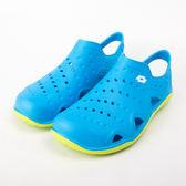 Lotto  防水 超彈力 透氣洞洞鞋 輕便鞋 懶人鞋-藍 LT9AMS0916