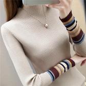 半高領打底衫毛衣女秋冬洋氣內搭長袖加厚新款修身緊身針織衫