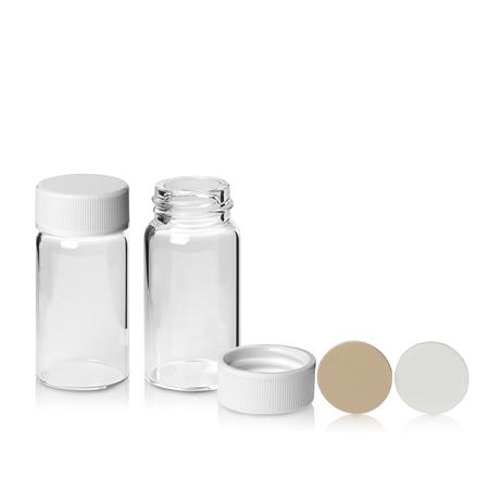 《NEG》玻璃樣本瓶 Vial, Sample, Screw Thread, White Closure