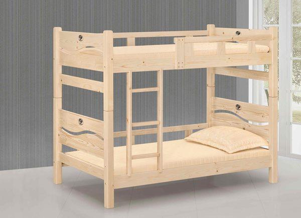 【森可家居】米蘭松木雙層床(不含床墊) 7JX62-2 實木 上下舖