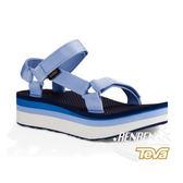 TEVA 女運動涼鞋 Flatorm Universal Retro (千層藍) 織帶厚底涼鞋 TV1013653PWB【 胖媛的店 】