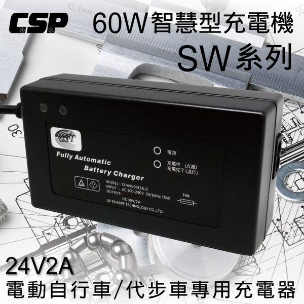 SW系列24V2A充電器(電動腳踏車專用) 鋰鐵電池/鉛酸電池 適用 (60W)