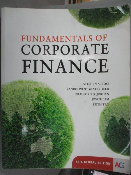 【書寶二手書T1/大學商學_WGE】Fundamentals of Corporate Finance _Ross、Lim、Tan