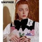 領結 UNIFREE可愛學院風領結超大蘿莉風釘珠冬裝女新款U194W691DD