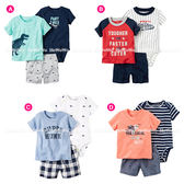 嬰幼兒短袖套裝 短袖上衣+包屁衣+短褲baby套裝 寶寶童裝 LZ3234 好娃娃