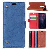 小米 紅米Note8 Pro 銅釦復古皮套 手機皮套 插卡 支架 掀蓋殼 磁扣 保護套 皮套