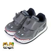 Reebok ROYAL CLJOG 2 KC 鯊魚造型 魔鬼氈 小童鞋 灰色 NO.R6556