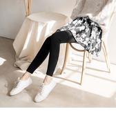《BA4655》黑白花瓣印優雅彈性內搭褲裙 OrangeBear