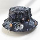 New Era 漁夫帽 NE12836617 黑 多肉植物 調整拉繩可拆【iSport愛運動】