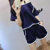 睡衣女夏季短袖韓版清新學生甜美可愛寬鬆女家居服兩件套裝可外穿 愛麗絲精品