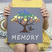 寶寶家庭相冊diy相冊本大容量成長紀念冊影集粘貼式【時尚大衣櫥】