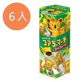 LOTTE 樂天 小熊餅-巧克力 37g (6入)/組