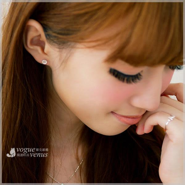戀戀小物 可愛雜貨風鈕扣造型耳環 925純銀耳環 - 維克維娜