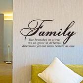 創意無痕壁貼  Family  牆貼 創意壁貼《生活美學》