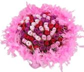 娃娃屋樂園~100支玫瑰香皂花(羽毛)-分享花束 每束2900元/婚禮小物/第二次進場