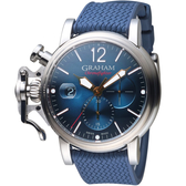 GRAHAM格林漢Chronofighter Grand Vintage腕錶 2CVDS.U09A.K136S 藍