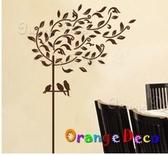 壁貼【橘果設計】停歇 DIY組合壁貼/牆貼/壁紙/客廳臥室浴室幼稚園室內設計裝潢