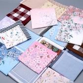 手帕 純棉手帕女士隨身日式古風印花全棉手絹擦汗吸汗中國風老式小方巾 阿卡娜