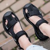 涼鞋-夏季新款戶外休閒防滑男款包頭涼鞋男士沙灘鞋潮流涼拖鞋透氣 伊蒂斯女装