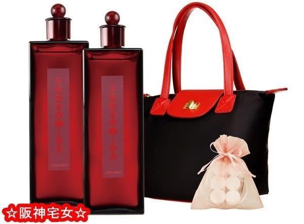 ☆阪神宅女☆資生堂夢露百年感恩組 紅色夢露200ML的1瓶+6入面膜球X2入+資生堂手提包