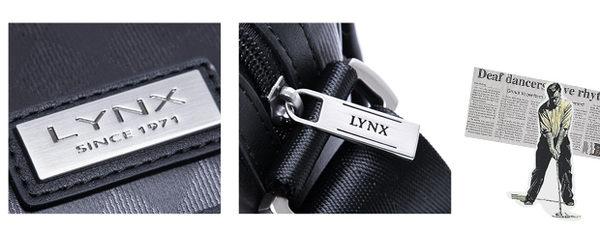 Lynx - 山貓英式雅痞防水皮革翻蓋側背包-大