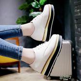 鞋軟妹小皮鞋女春秋新品厚底鬆糕鞋單鞋學生英倫風女鞋好康免運