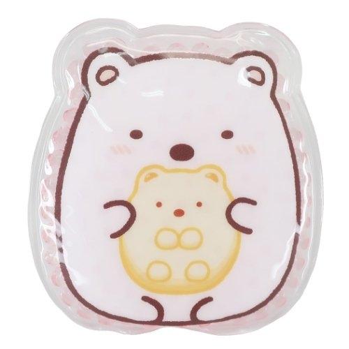 小禮堂 角落生物 北極熊 造型透明果凍顆粒保冷劑 保冰劑 冰敷袋 (粉 坐姿) 4548626-11609