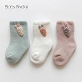 兒童襪子毛圈加厚秋冬嬰兒襪卡通可愛配飾中高筒寶寶早教防滑襪