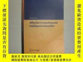 二手書博民逛書店Affective罕見Computing and Intelli