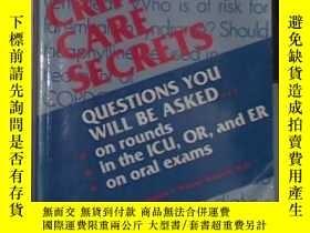 二手書博民逛書店英文原版罕見Critical care secrets by P