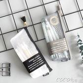 筆袋  時尚謎三角筆袋小清新簡約筆袋半透明網紗狀鉛筆盒文具袋 新品