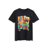 Gap男童Gap x Marvel漫威系列棉質舒適圓領短袖T恤551233-暗夜黑