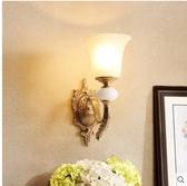 小鄧子美式客廳壁燈臥室床頭燈歐式過道走廊燈簡約現代創意鄉村全銅燈具