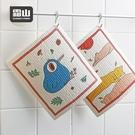 【日本霜山】印花風乾濕兩用木漿棉清潔/抹布/洗碗布-4張入組單一規格