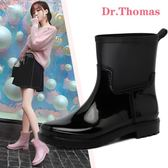 雨鞋   休閒中筒女式水靴膠鞋套鞋雨靴防滑保暖水鞋成人戶外雨鞋