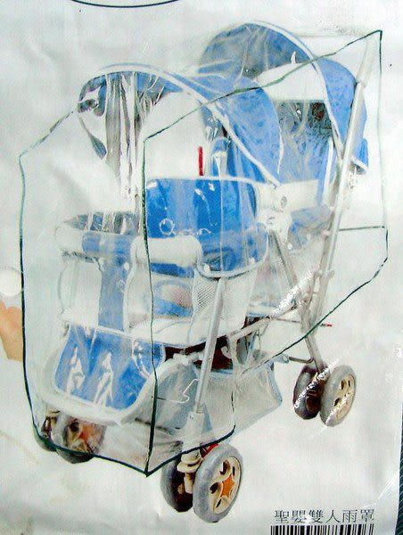Vivibaby雙人加大款手推車防風防雨罩U0088005【TwinS伯澄】