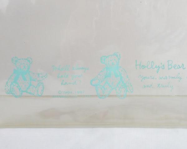 【震撼精品百貨】Holly's Bear 泰迪熊~防水拉鍊收納帶『透明水藍』
